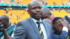 Kaizer Chiefs coach Steve Komphela looking displeased before the interview during the 2016 Nedbank Cup Last 32 match between Orlando Pirates and Kaizer Chiefs on 05 March 2016 at FNB Stadium  Pic Aubrey Kgakatsi/ BackpagePix